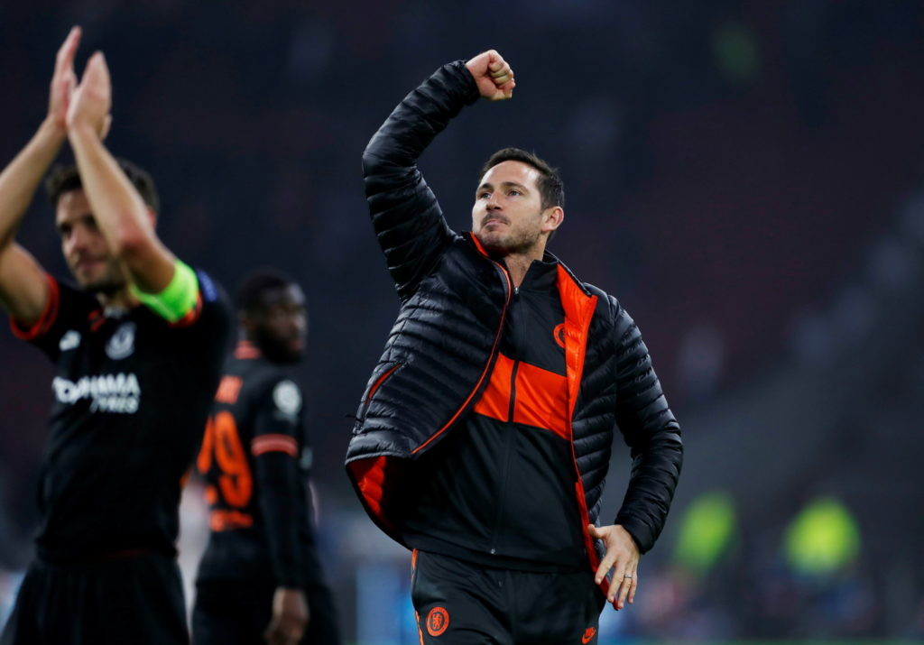 Frank Lampard has told his Chelsea players that they have set the standard for the rest of the season after their 1-0 win at Ajax in the Champions League.