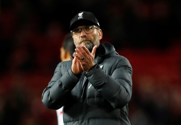 Liverpool boss Jurgen Klopp says Manchester United always set up to defend against his side following Sunday's 1-1 draw at Old Trafford.