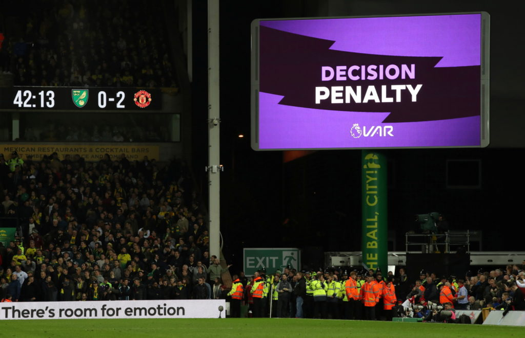 Ole Gunnar Solskjaer believes Manchester United were incorrectly awarded a penalty by VAR during their 3-1 Premier League win at Norwich on Sunday.