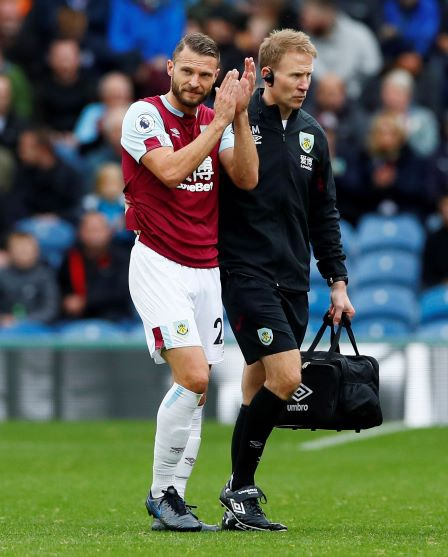 Burnley boss Sean Dyche is hopeful that the injury suffered by Erik Pieters won't prove too serious after the defender was forced off in the win over Everton.