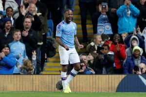Raheem Sterling scored a hat-trick as ten-man Manchester City continued their winning start in Champions League Group C with a 5-1 thrashing of Atalanta.