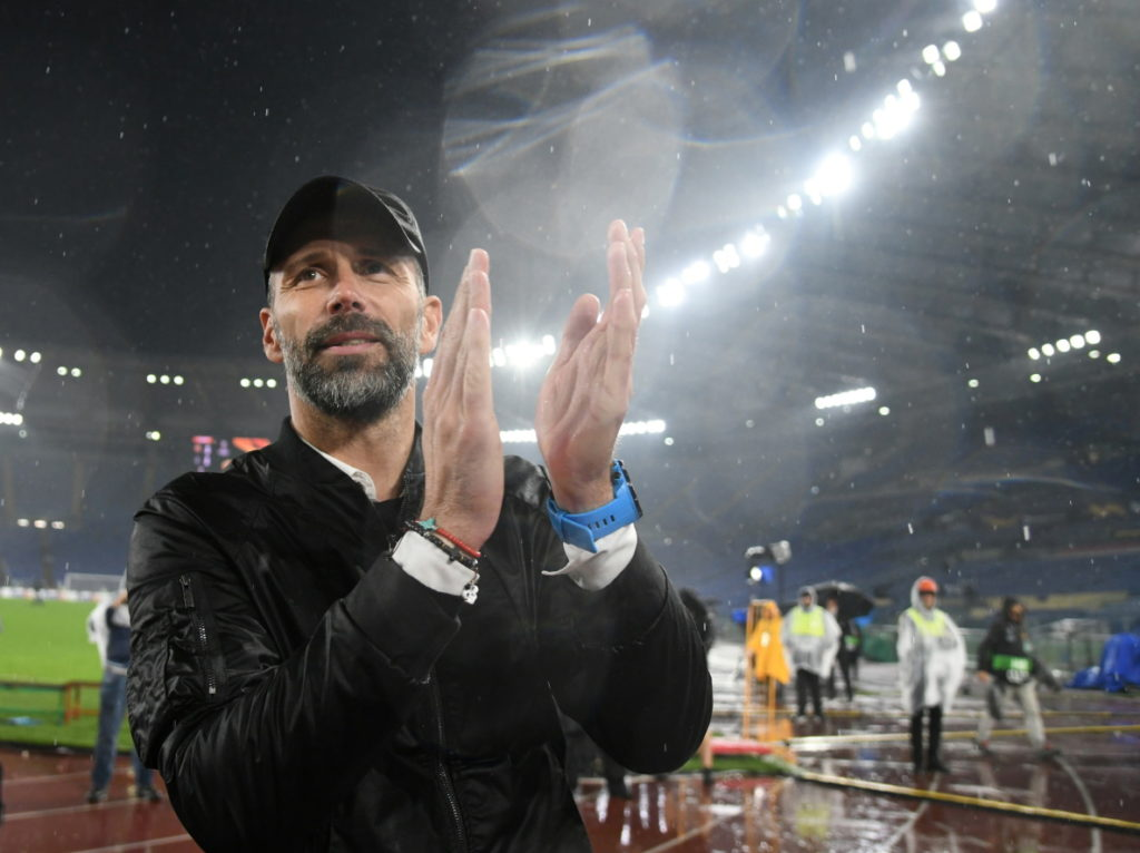 Borussia Monchengladbach head coach Marco Rose is keeping his cool.