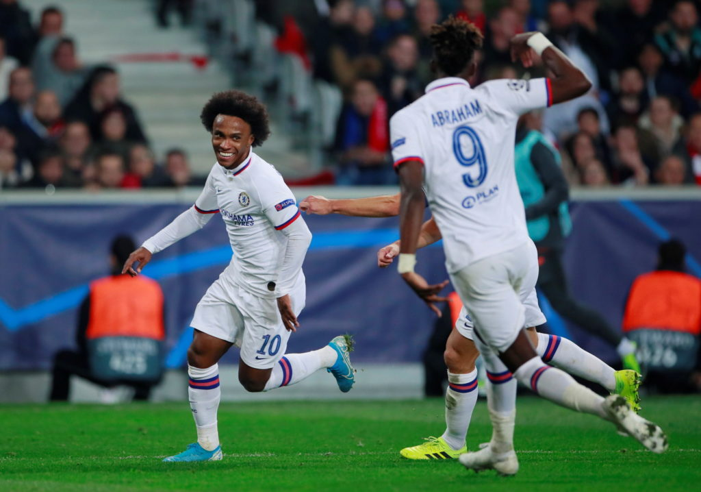 Frank Lampard secured his first Champions League win as a manager after Chelsea defeated French Ligue 1 side Lille 2-1 in Group H at the Stade Pierre-Mauroy.