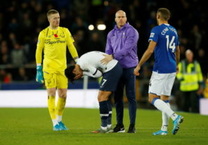 Cenk Tosun's injury time header salvaged a point for Everton as they held Tottenham to a 1-1 draw at Goodison Park.