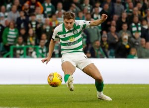 Celtic winger James Forrest is looking forward to taking on Old Firm rivals Rangers in next month's Betfred Cup final at Hampden Park.
