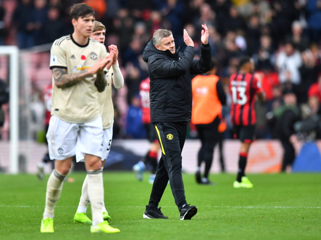 Ole Gunnar Solskjaer is backing Manchester United to bounce back from the 1-0 defeat at Bournemouth but admits a place in the top four looks a tall order.