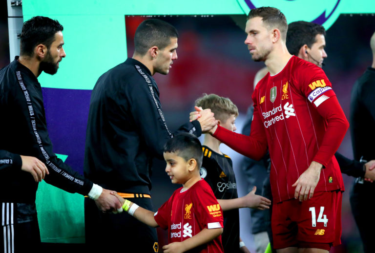 Conor Coady is full of praise for Liverpool captain Jordan Henderson