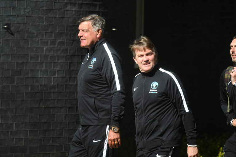 Working as assistant manager in Mike Bassett may have prepared Bradley Walsh for the same role with England manager Sam Allardyce during recent Soccer Aid matches.