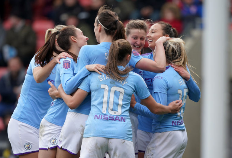 Manchester United v Manchester City – Women's FA Cup – Fourth Round – Leigh Sports Village