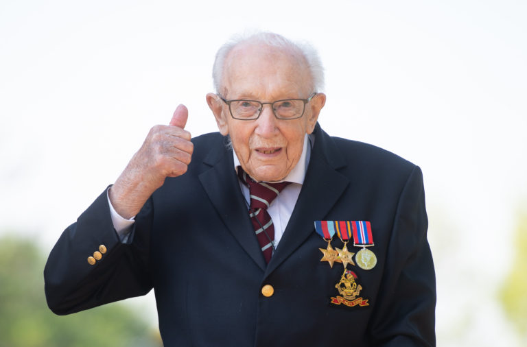 War veteran Captain Tom Moore raised millions for NHS charities
