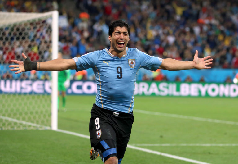 Luis Suarez disgraced himself at the 2014 World Cup after another biting incident
