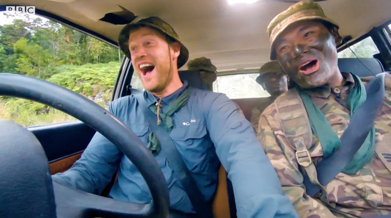 Andrew Flintoff, left, hosts popular BBC series Top Gear