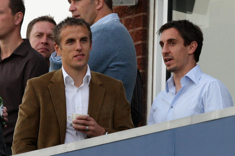 Phil Neville and Gary Neville played together for Manchester United and England