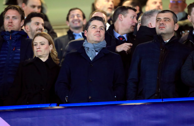 Richard Masters, centre, holds the position of chief executive of the Premier League