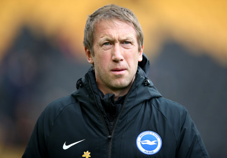Graham Potter does not want football rushed back before it is safe