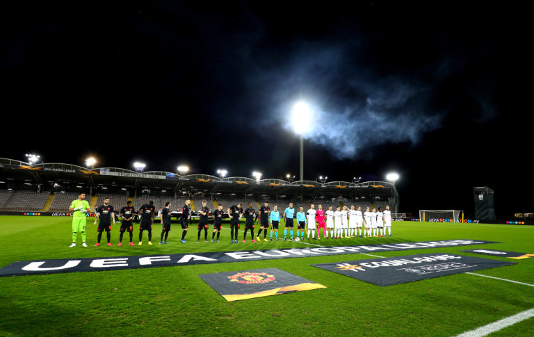 United played in front of empty stands at LASK before the coronavirus shutdown