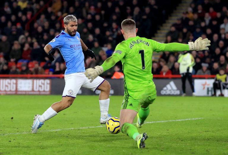 Sergio Aguero, left, has scored 16 Premier League goals this season