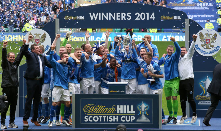 St Johnstone's only Scottish Cup success came under Wright in 2014