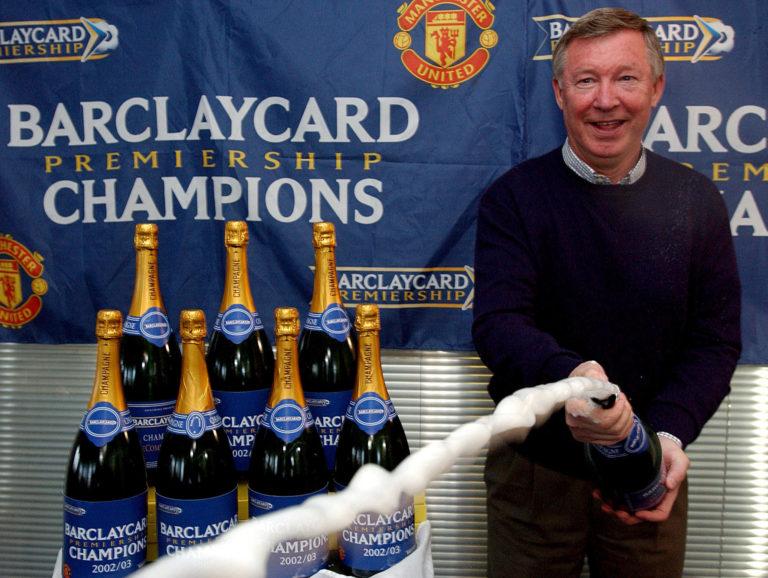 Sir Alex Ferguson celebrated in style