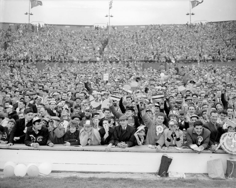 Thousands of fans packed into Wembley for the FA Cup final between Tottenham and Leicester