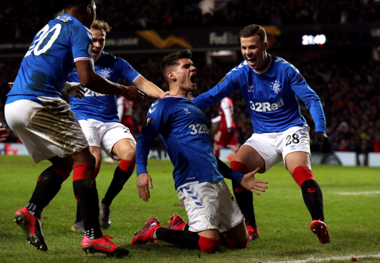 Rangers defeated Braga over two legs to reach the last 16 of the Europa League before the lockdown