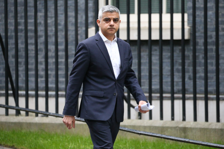 London Mayor Sadiq Khan says it is too early to talk about Premier League football being played in the capital