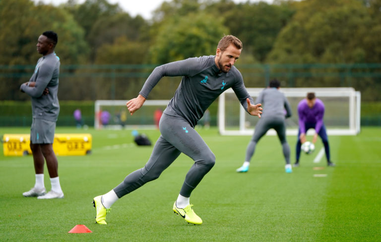 Harry Kane is hoping to be back in group training soon.