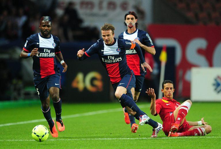 David Beckham's final match for PSG was agent Brest