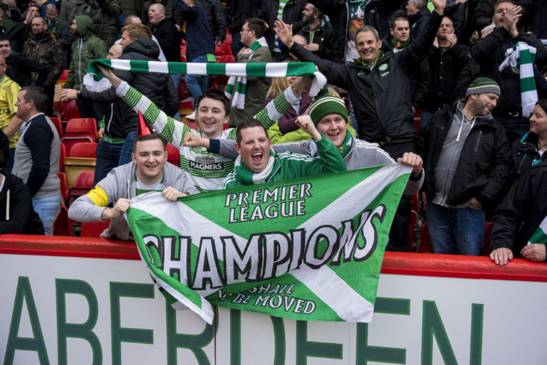 Celtic won the league after Aberdeen lost
