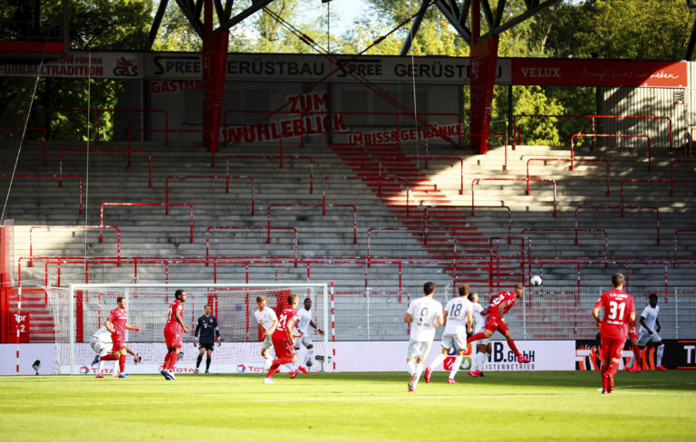 Union Berlin and Bayern Munich played behind closed doors