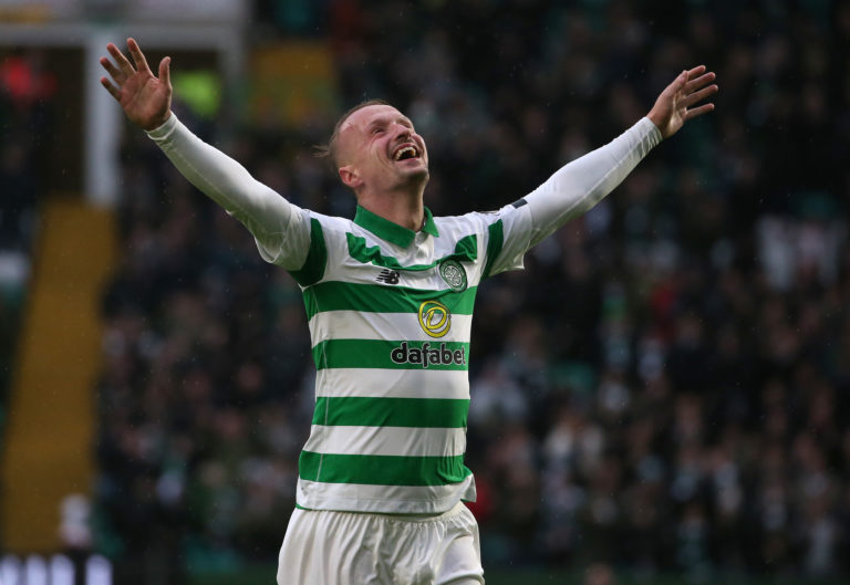 Leigh Griffiths hit a hat-trick in a 5-0 win over St Mirren in what proved to be Celtic's final game of the season