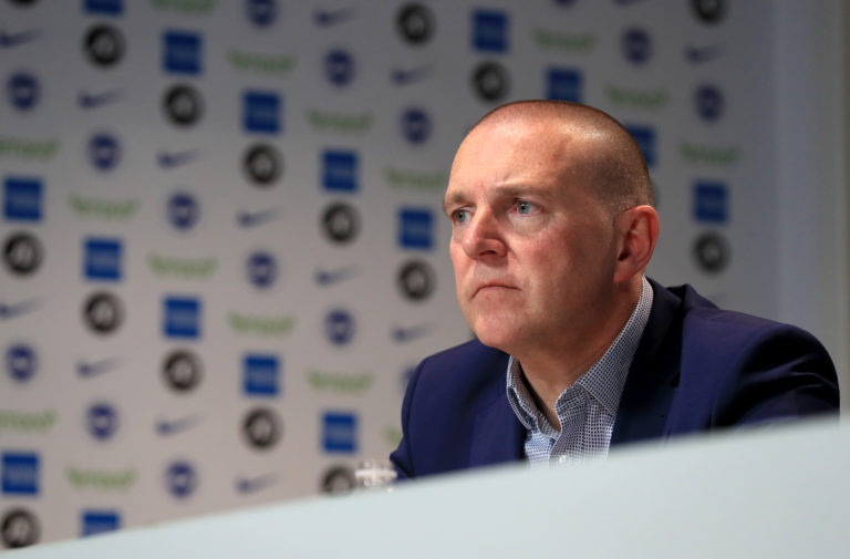Brighton chief executive Paul Barber is one of a number of club bosses to express their opposition to finishing the season at neutral venues
