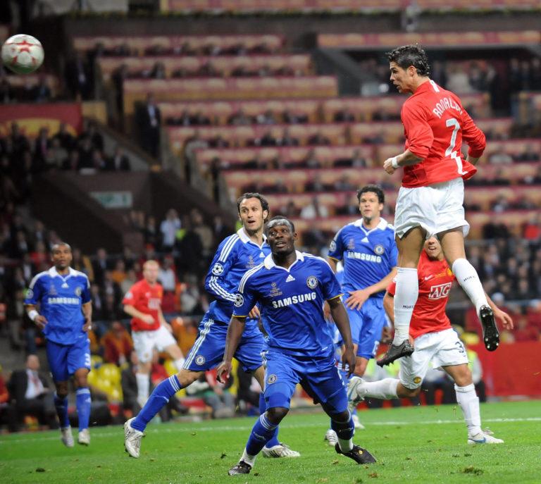 Cristiano Ronaldo put United ahead against Chelsea