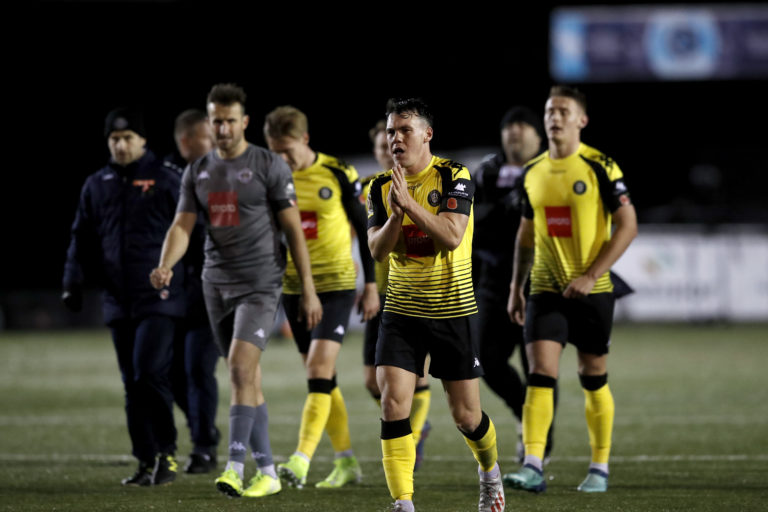 Will Harrogate, in second place in the National League when play was suspended, be denied a place in the Football League?