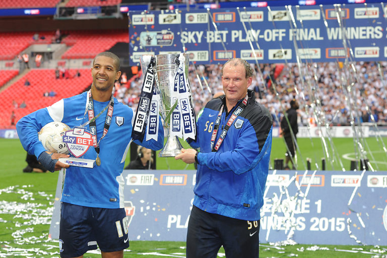 Beckford (left) worked well under the influence of Simon Grayson (right)