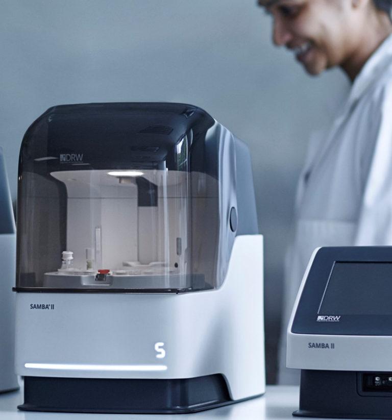 A coronavirus testing machine