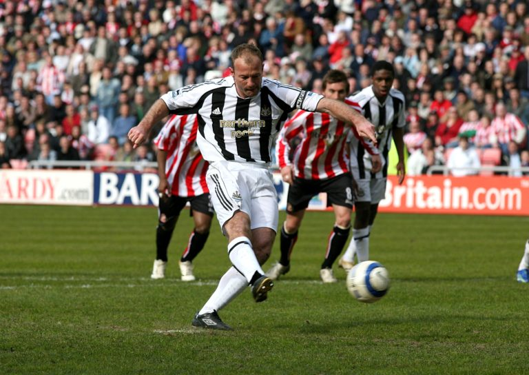 Shearer scored his 260th and final Premier League goal against arch-rivals Sunderland