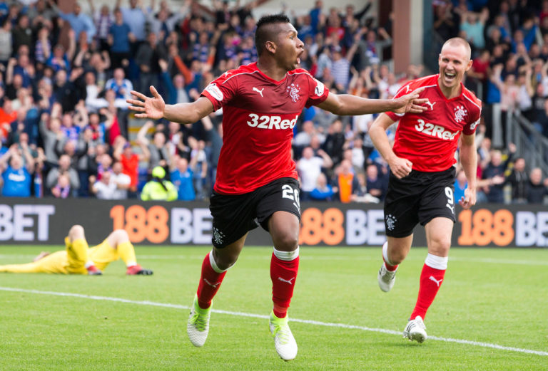 Kenny Miller, right, believes Alfredo Morelos wants to move on