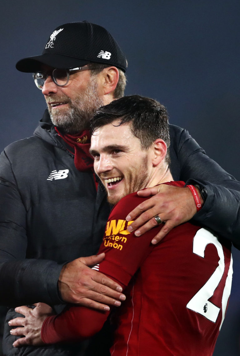 Robertson (right) and Klopp (left) share a mutual admiration.
