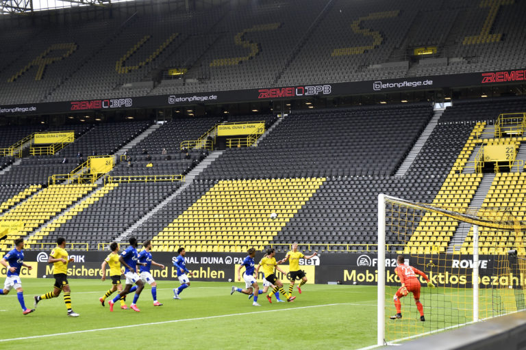 The Bundesliga resumed action last month in front of empty stands