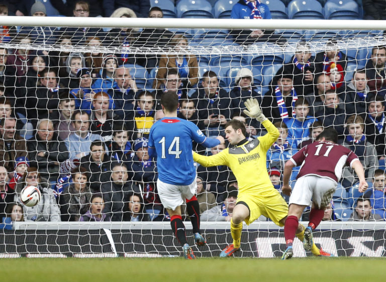 Stenhousemuir faced Rangers in League One