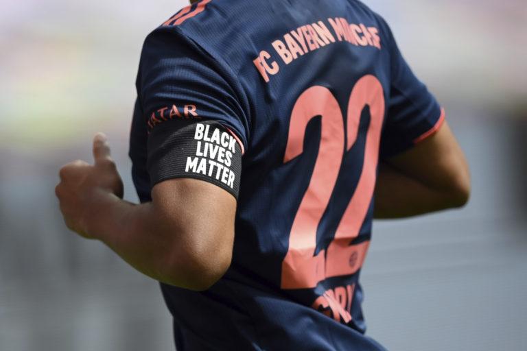 Bayern's Serge Gnabry a 'Black Lives Matter' armband