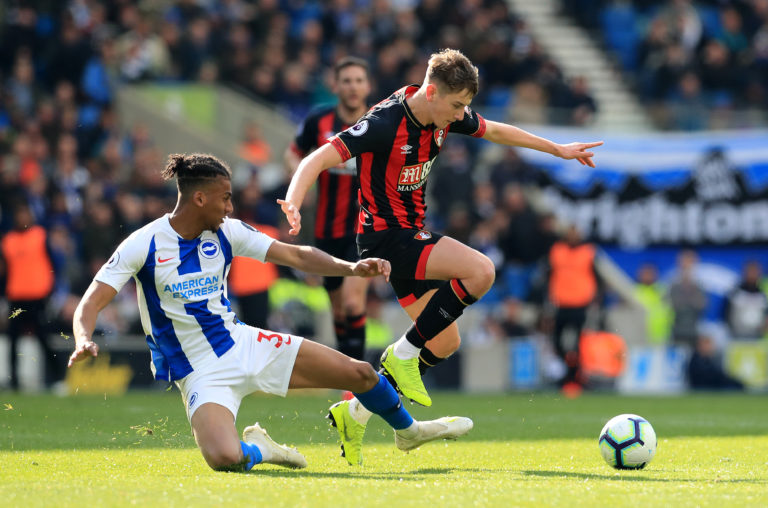 Bournemouth will be able to welcome back David Brooks, right, when the season resumes