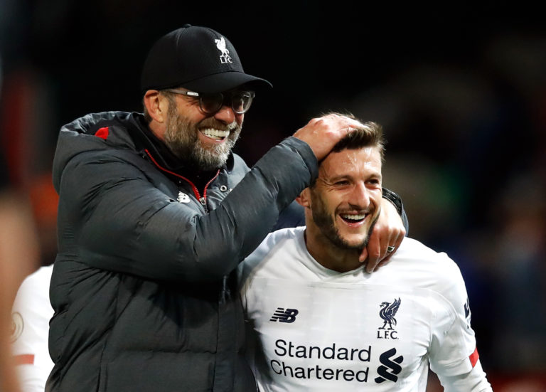 Jurgen Klopp has saluted Lallana