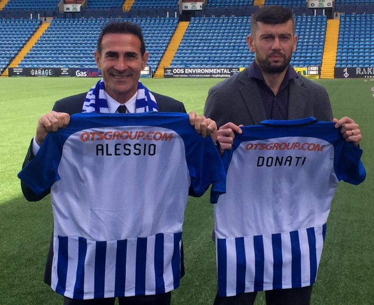 Massimo Donati, right, earlier departed