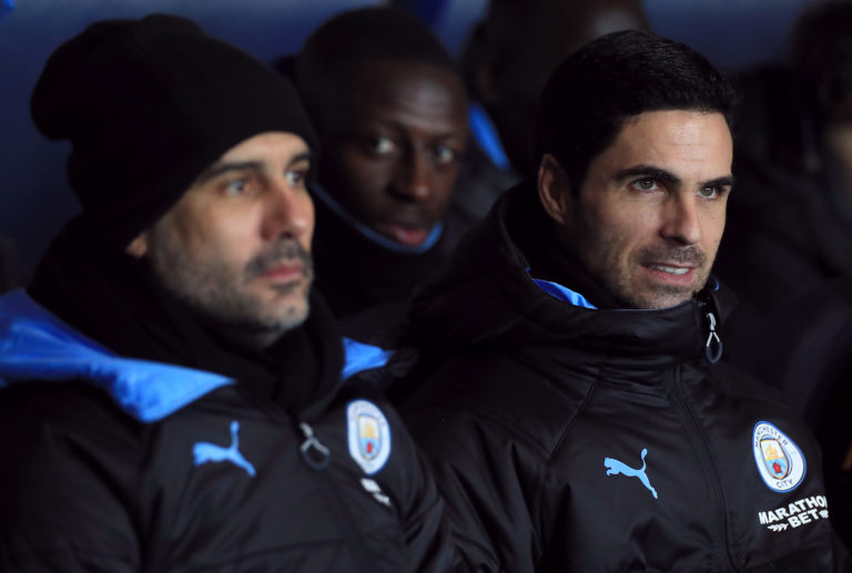 Pep Guardiola and Mikel Arteta worked together until December 2019