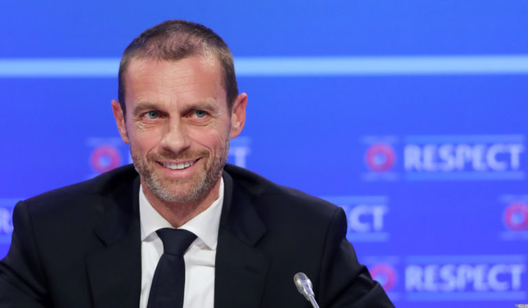 Aleksander Ceferin has not ruled out allowing fans to attend the closing stages of the Champions League