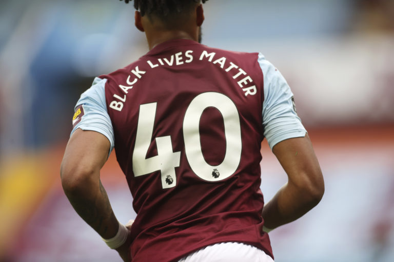 'Black Lives Matter' replaced player names on the back of the shirts