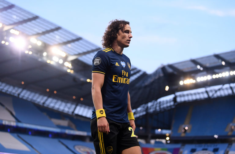 Arsenal's David Luiz was sent off on a miserable night for Arsenal