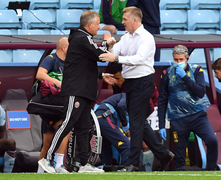 Dean Smith (right) admitted his side got lucky